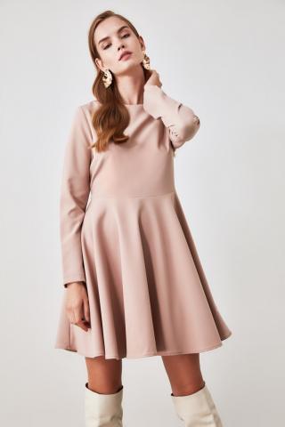 Trendyol Mink Flywheel Dress dámské 34