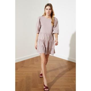 Trendyol Mink FlywheelIng Dress dámské M