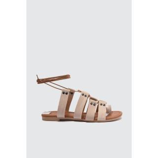 Trendyol Mink Lace-Up Women Sandals dámské 40