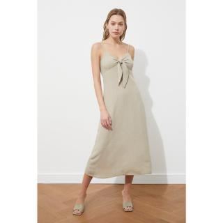Trendyol Mink Ribbon Detailed Dress dámské 36