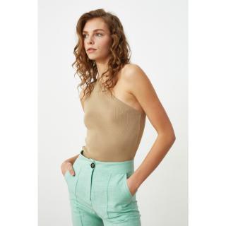 Trendyol Mink Single Shoulder Strap Knitwear Blouse dámské S