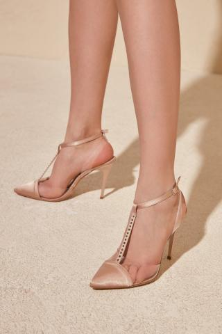 Trendyol Mink Transparent Detailed Womens Classic Heels dámské 39