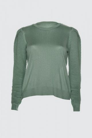 Trendyol Mint Arm Knitting Detailed Knitwear Sweater dámské M