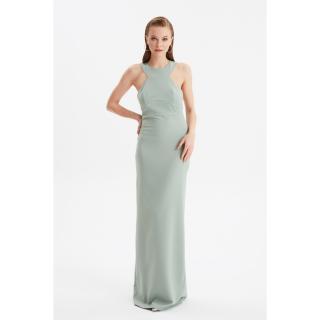 Trendyol Mint Back Detailed Evening Dress & Graduation Gown dámské 34