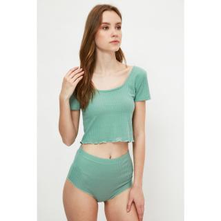 Trendyol Mint Camisole Knitted Bottom-Top Set dámské XL