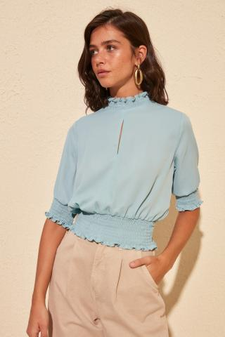 Trendyol Mint Collar Detailed Blouse dámské 40