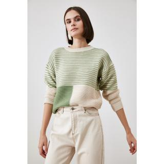 Trendyol Mint Color Block Knitwear Sweater dámské S