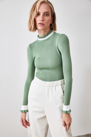 Trendyol Mint Knitwear Sweater dámské M