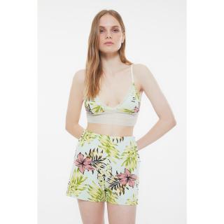 Trendyol Mint Lace Knitted Pajamas Set dámské S
