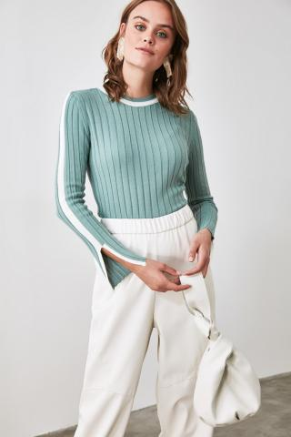 Trendyol Mint Sleeves Slit Detailed Knitwear Sweater dámské L