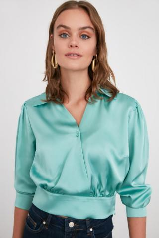Trendyol Mint V Collar Blouse dámské 34