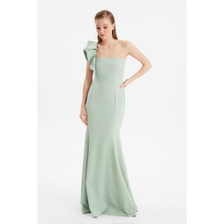 Trendyol Mint Volan Detailed Evening Dress & Graduation Gown dámské 34