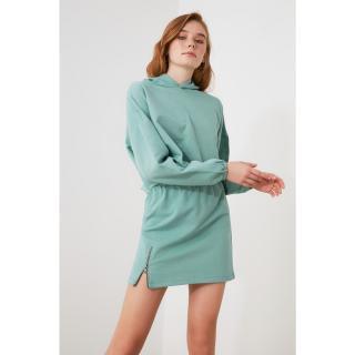 Trendyol Mint Zipper Detailed Knitted Skirt dámské XS