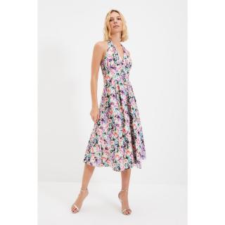 Trendyol Multi Color Collar Detailed Dress dámské Other 34