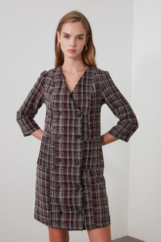 Trendyol MultiColor Button Detailed Dress dámské 34