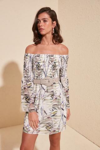 Trendyol MultiColor Gipe Detailed Dress dámské 38