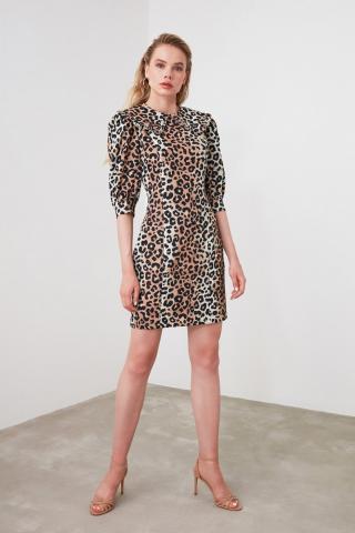 Trendyol MultiColor Neck Line Detailed Dress dámské 34