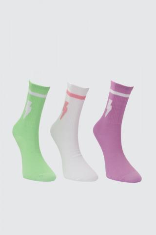 Trendyol Multicolor Patterned 3 Pack Knitted Socks dámské Navy One size