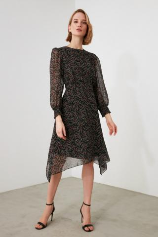 Trendyol Multicolor Patterned Asymmetrical Dress dámské 34