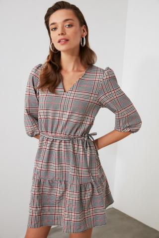 Trendyol MultiColored BeltEd Carat Dress dámské 34