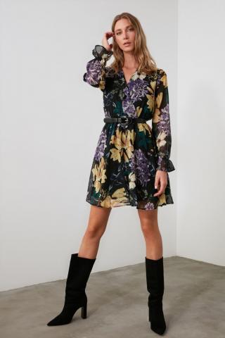 Trendyol Multicolored Cruise Collar Dress dámské 34