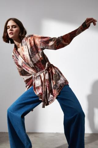 Trendyol MulticolorEd Fastening Detailed Knitted Jacket dámské XS