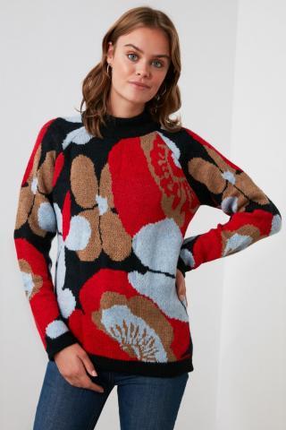 Trendyol Multicolored Jacquard Knitwear Sweater dámské S