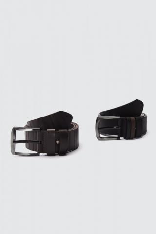 Trendyol Multicolored Mens 2-team FD Leather Belt pánské 115 cm