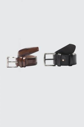 Trendyol MulticolorEd Mens 2-way F-Leather Belt pánské 120 CM