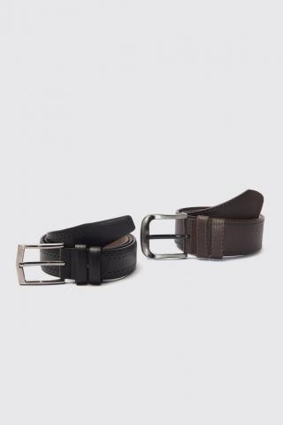 Trendyol MulticolorEd Mens 2-way FD Leather Belt pánské 110 cm