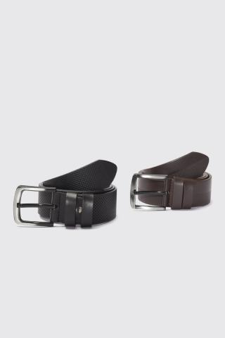 Trendyol Multicolored Mens 2-way FD Leather Belt pánské 110 cm