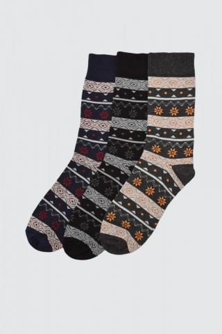 Trendyol MulticolorEd Mens 3 Socket Socks pánské One size