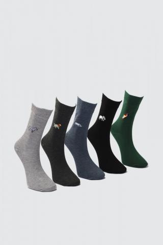 Trendyol MulticolorEd Mens 5 Socket Socks pánské One size