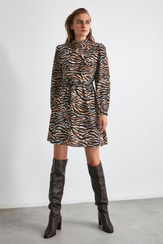 Trendyol MultiColored Upright Neck Dress dámské 34