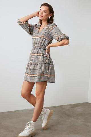 Trendyol Mustard Belt Edifties Dress dámské 36