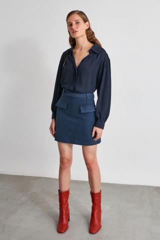 Trendyol Navy Basic Shirt dámské 34