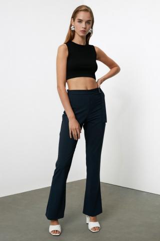 Trendyol Navy Belt Detailed Trousers dámské 34