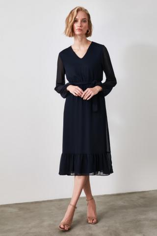Trendyol Navy Belt Dress dámské 34