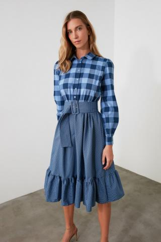 Trendyol Navy Belt Dress dámské 36