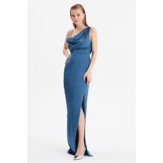 Trendyol Navy Blue Back Detailed Evening Dress & Graduation Gown dámské 36