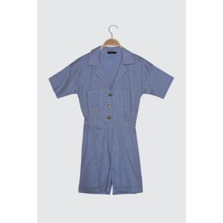 Trendyol Navy Blue Button Detailed PocketEd Jumpsuit dámské 42