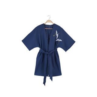 Trendyol Navy Blue Embroidered Kimono & Kaftan dámské S