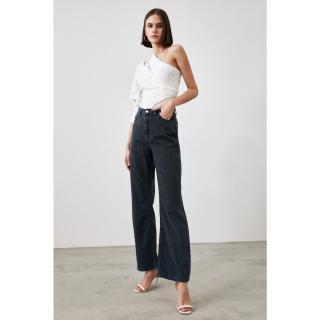 Trendyol Navy Blue High Waist Wide Leg Jeans dámské 34