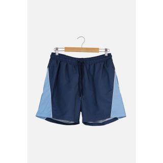 Trendyol Navy Blue Mens Color-Blocked Piping Swim Shorts pánské S