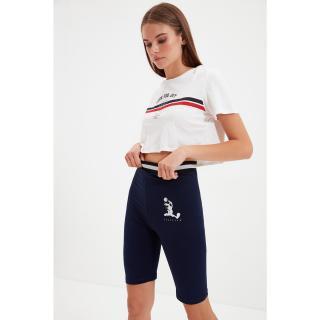 Trendyol Navy Blue Space Jam Licensed Biker Knitted Tights Tights dámské Other XXL