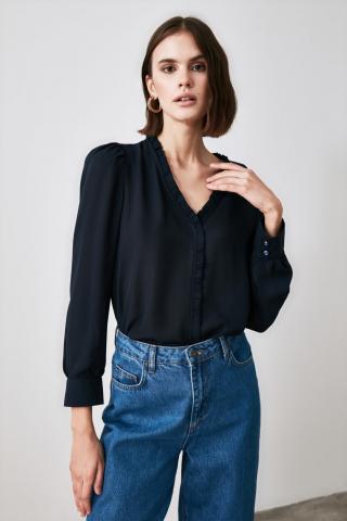 Trendyol Navy Collar Detailed Shirt dámské 34