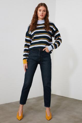 Trendyol Navy High Waist Mom Jeans dámské 36