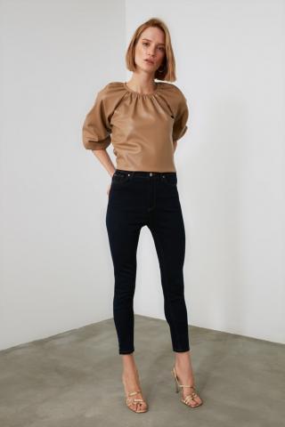 Trendyol Navy High Waist Skinny Jeans dámské 34