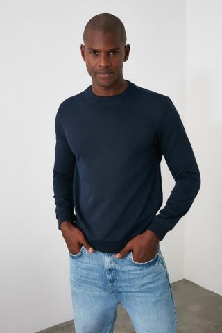 Trendyol Navy Mens Regular Fit Sweatshirt pánské S
