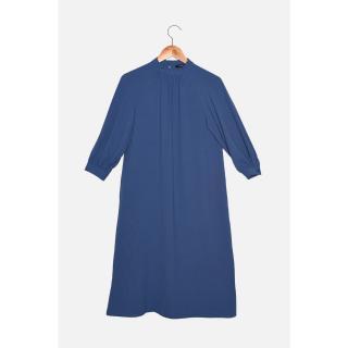 Trendyol Navy Pleated Dress dámské Other 34